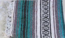 Mexican Falsa Throw Blanket for Yoga Picnics Beach and More