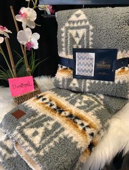"""NEW Pendleton Blanket Throw Fleece SOUTHWEST 50"""" x 70"""" Lodge"""