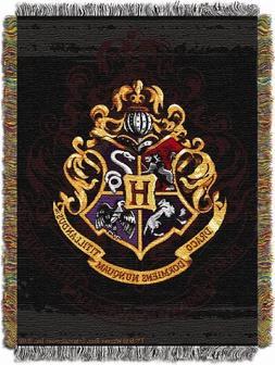 "New - Harry Potter Hogwarts Dcor 48""x60"" Metallic Tapestry T"