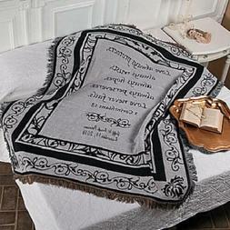 Personalized Religious Newlyweds Throw Blanket w/ Corinthian
