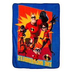 Pixar The Incredibles 2 Family Heroes Micro Throw Blanket 46