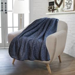 "Premium Knit Sherpa Throw Blanket by Pavilia | 50"" x 60"" Two"