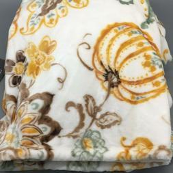 Pumpkin Paisley Throw Blanket Soft Micro Plush 60x70 Fall Th