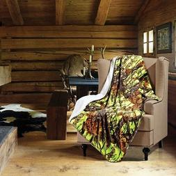 REGAL COMFORT THE WOODS SHERPA THROWS  13 COLORS