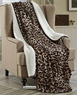 Regal Comfort Sherpa Luxury Throw Cheetah Print