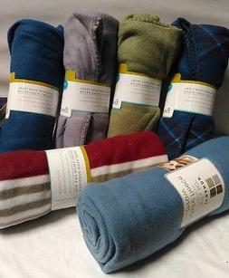 Restor Style Fleece Throw Blanket 50in x 60in CHOOSE YOUR CO