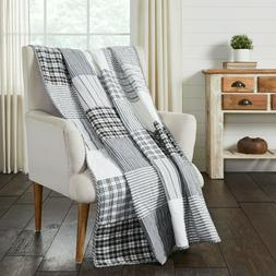 Sawyer Mill Star Patchwork Quilted Throw Blanket Country Cot