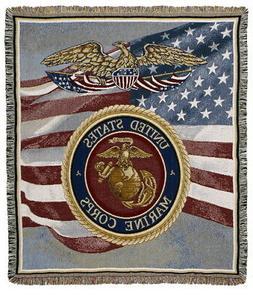 Simply Home U.S. Marines Triple-Layer Throw Blanket