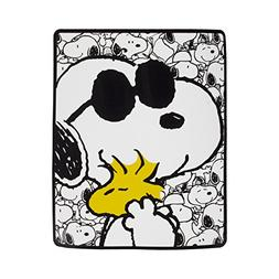 "Snoopy Sunglass and Woodstock Plush Throw Blanket 50""x60"""