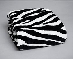 Soft Luxury Berkshire Blanket Oversized Throw Zebra Black /