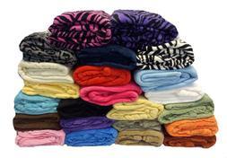Super Soft Solid Fleece Throw Blanket Over 20 Colors - Twin