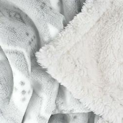Super Soft and Plush Sherpa Snowflake Horse Throw Blanket 50