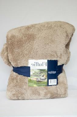 Throw Blanket Berkshire Fluffie 60 x 70 Tan Very Soft
