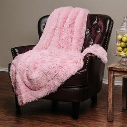 Throw Blanket Soft Long Shaggy Fuzzy Fur Faux Warm Fluffy Sh