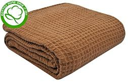 VALUE HOMEZZ 100% Soft Ringspun Cotton Thermal Blanket - Que