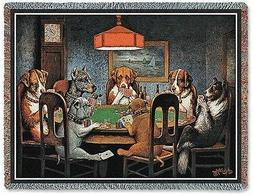 Pure Country Weavers - Dogs Playing Poker Woven Tapestry Thr