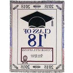 A PLUS MARKETING  Personalized 2018 Graduation Throw Blanket