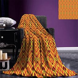 smallbeefly African Throw Blanket Oriental Geometric Symmetr
