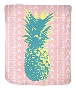"Alpha Sigma Tau White Pineapple 50"" x 60"" Velveteen Soft Thr"