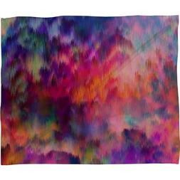 Deny Designs Amy Sia Sunset Storm Fleece Throw Blanket, 40-I
