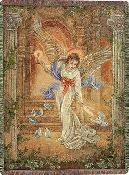 Angel of Light Tapestry Cotton Throw