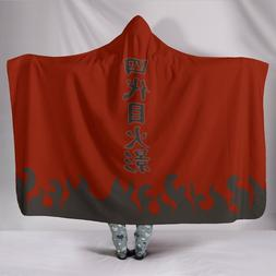 Anime Naruto Hokage Cloak 3d Printed Plush Hooded <font><b>B