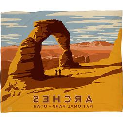 DENY designs ARCHES of Utah Soft Throw Blanket by Anderson D