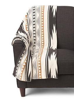 Aztec Print Cotton Knit Throw Blanket Southwestern Tribal Mo