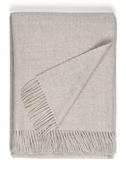 100% Pure Premium Baby Alpaca Eco Sofa Throw Blanket, Solid