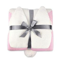 """Zebrum Baby Knitted Cotton Blanket, 30""""x40"""" Cuddle Sheet for"""
