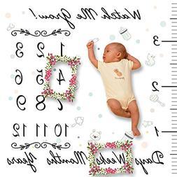 Baby Milestone Blanket Fleece - Photography Background, Extr