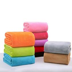 Baby Soft Warm Solid Warm Micro Plush Fleece Blanket Throw R