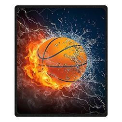 QH Basketball Printing Velvet Plush Throw Blanket Comfort De
