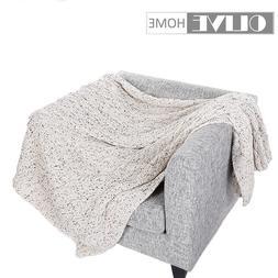 Battilo Soft Cozy Home Decorative Sofa Couch Chair Knit <fon
