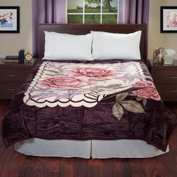 Lavish Bed Blankets Home Heavy Thick Plush Mink Blanket, 8-P