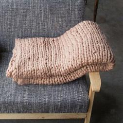 Bedding Knitted Tweed Throw Blanket Soft for Couch Bed 20x20
