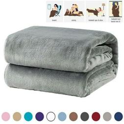 Bedsure Flannel Fleece Blanket Throw Cozy Couch Bedding Micr