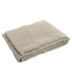 Beige Checker Pattern Woven Throw Blanket Super Soft Luxury
