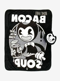 Bendy And The Ink Machine Throw Blanket And Pillow Set Plush