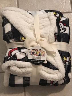 Berkshire Peanuts Snoopy Woodstock Fleece Throw Blanket 50x6