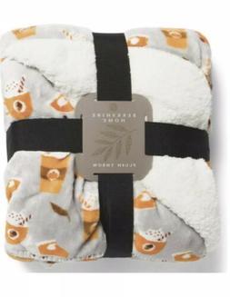 Berkshire Plush Throw Blanket 60x70 Pumpkin Spice Latte Pie