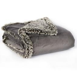 Better Living Faux-Mink & Sherpa Throw