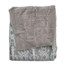 bexley reversible throw blanket grey