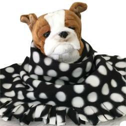 BLACK DOTS ,Fuzee Fleece Dog Blankets, Soft Pet Blanket Trav