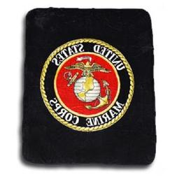 aes Black USMC Marines Marine Corps Flag King/Queen Mink Thr