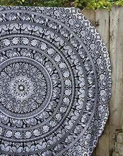 Mandala Round Tapestry Hippie Indian Mandala Roundie Picnic
