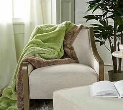 "Berkshire Blanket Set of 2 60"" x 70"" Super Soft Fluffie Thro"