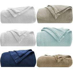 "Homvare Blanket/Throw Super Soft Cotton Geometric King 90"" x"
