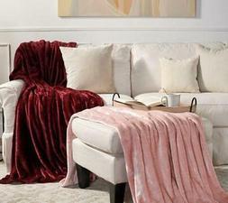 blanket velvet soft set of 2 super