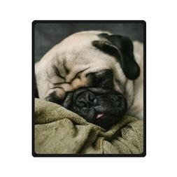 TSlook 60x80 Blankets Funny Pug Dog 1 Comfy Funny Bed Blanke